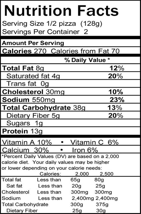 brio nutrition information calories frozen pizza nutrition facts nutrition ftempo