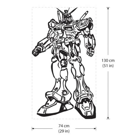Sticker Stiker Cutting Gundam Rx 78 2 Colour gundam rx78 robot vinyl wall decal