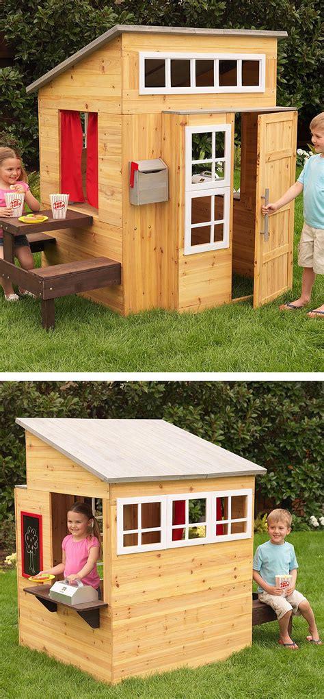 modern outdoor playhouse play houses build  playhouse