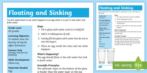 floating and sinking boat experiment new floating egg science experiment floating sinking