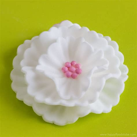 how to make flower food how to make fondant flowers tutorial happyfoods