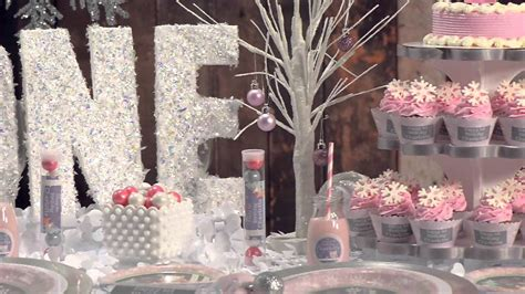 winter onederland birthday decorations birthday pink winter onederland shindigz