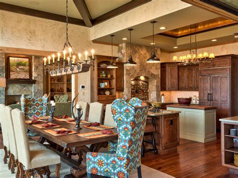 Lodge Dining Room Furniture Rustic Kitchen With Country Appeal Guss Hgtv