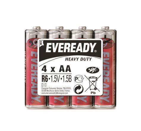 Eveready Heavy Duty Baterai Aa Isi 4 battery eveready heavy duty aa r6 1 5v 4 pcs eko biuro