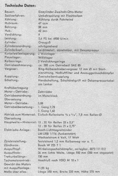 Sachs Motor Technische Daten by Omoz