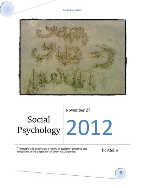 Psychology Portfolio Templates Social Psychology Portfolio