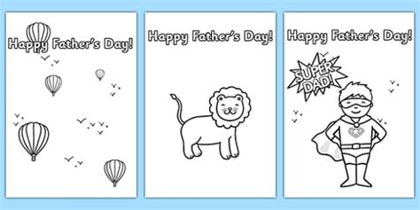 fathers day card template s day card template colouring design s day
