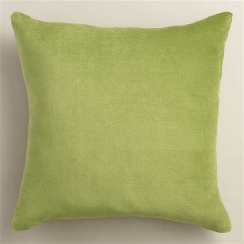Green Velvet Throw Pillows by Peridot Green Velvet Throw Pillow World Market