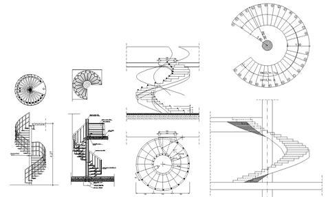 free spiral stair details cad design free cad blocks