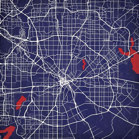 texas map prints dallas texas map city prints