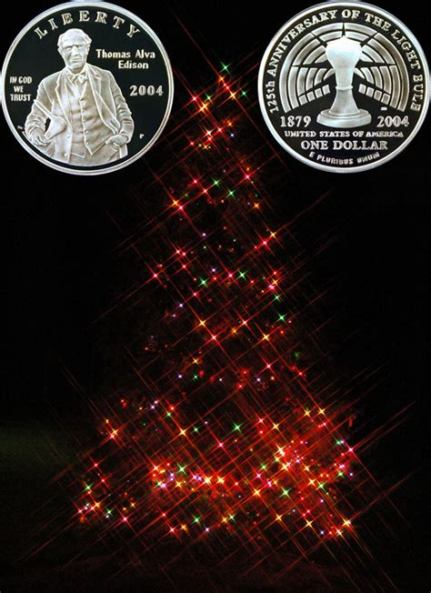 Christmas Lights Thomas Edison Commemorative Silver