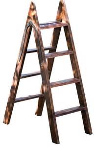 wooden decorative ladder decorative wood ladder with iron hinge transitional
