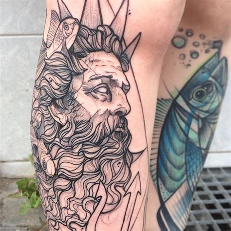 poseidon tattoo design best 25 poseidon ideas on collage