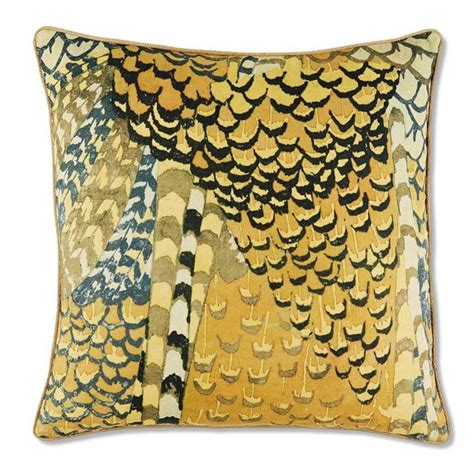 printed pheasant wing pillow cover williams sonoma