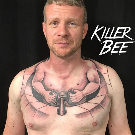 chest tattoo reddit trucker gets hilarious chest tattoo that makes it look