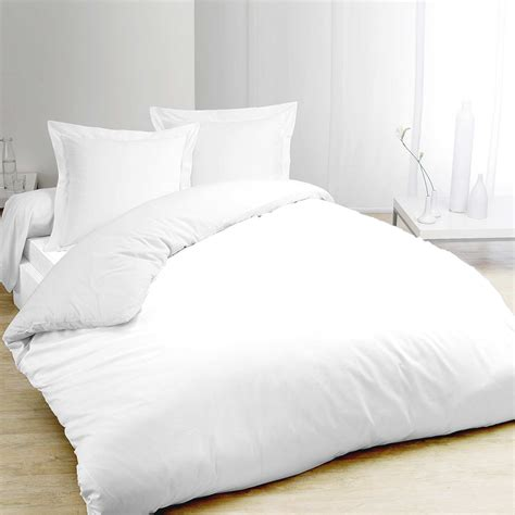 lit blanc parure de lit blanc en pur coton linge de lit kiabi 30 00