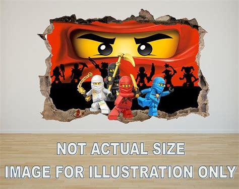 3d Sticker Ninjago by Lego Ninjago 3d Effect Graphic Wall Vinyl Sticker Decal