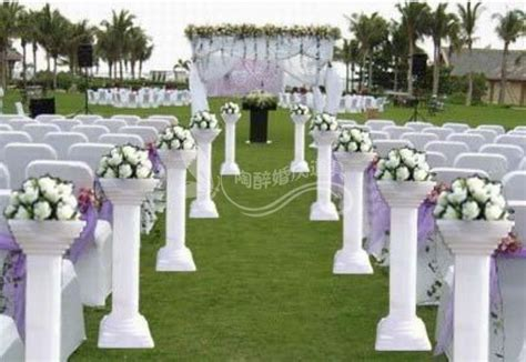 pcslot wedding roman pillars wedding road lead plastic