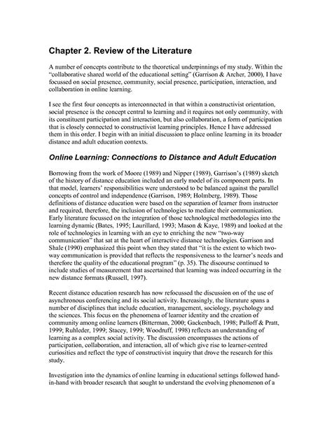 research paper on literature review of literature