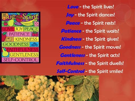 fruits of the holy spirit the fruits of the holy spirit