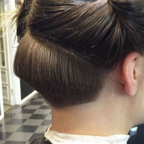 short nape hair style hairdresser at work undercut in progress quot nape
