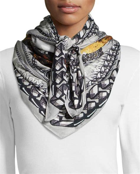 givenchy rottweiler scarf givenchy gray rottweiler modal scarf lyst