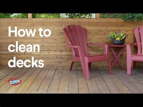 Solution To Clean Deck by Clorox 174 How To Clean An Outdoor Deck With Clorox
