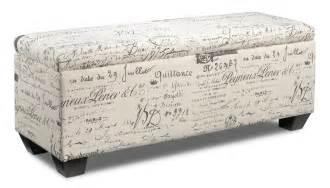 Ottoman Pictures Furniture Boardwalk Large Storage Ottoman Scroll White S