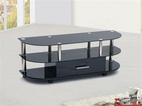 meuble tv design verre noir lcd3 meuble tv topkoo
