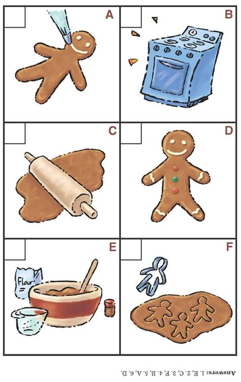 free printable gingerbread man sequencing cards sequencing gingerbread school things pinterest