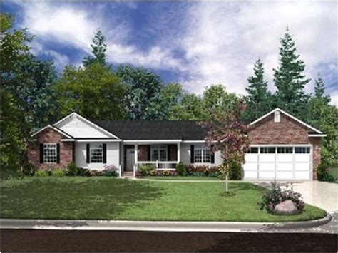 house with garage small brick homes ranch style homes craftsman brick ranch