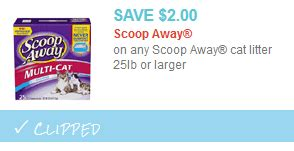 printable coupons for cat food and litter scoop away kitty litter 25lbs only 7 97