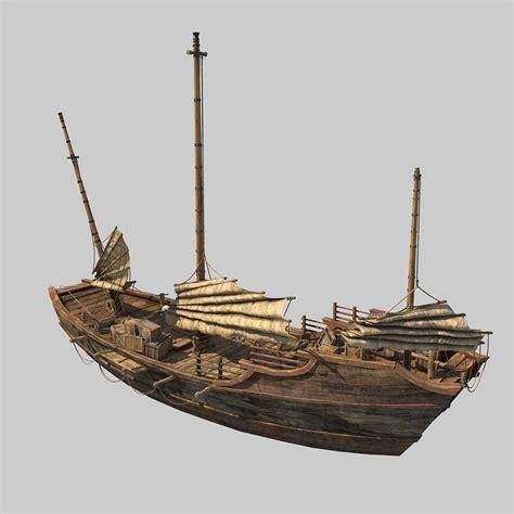 3d boat chinese boat 3d model max cgtrader