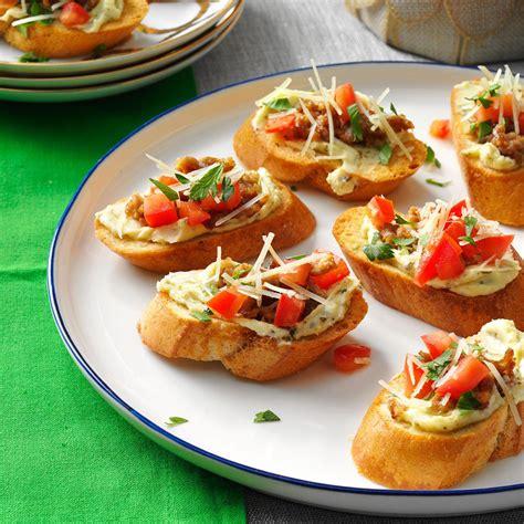 10 super bowl appetizer recipes to win halftime italian sausage bruschetta recipe taste of home