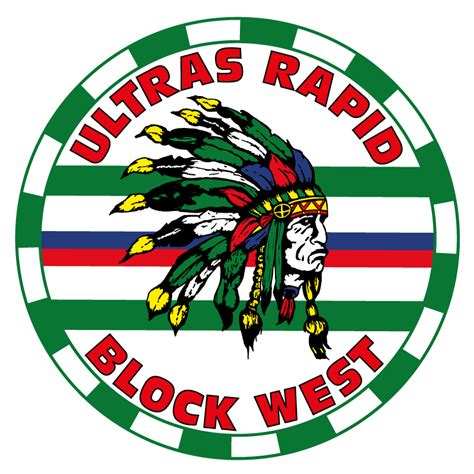 Ultras Rapid Aufkleber by Ultras Rapid Block West Ultras Rapid