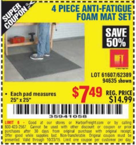 Anti Fatigue Foam Mat Set by Harbor Freight 20 Percent Coupon 2017 2018 Best Cars Reviews