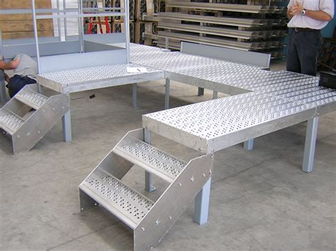 wire platform modular system for steel platform and stand by aluscalae