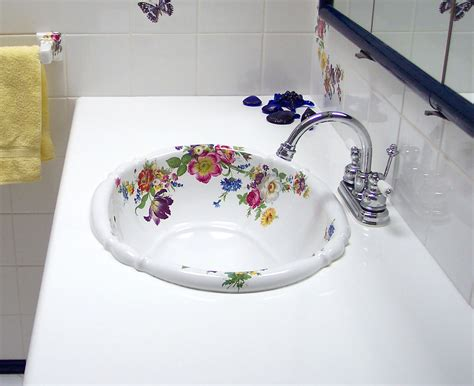 painted bathroom sinks scented garden dresden style hand painted floral bathroom