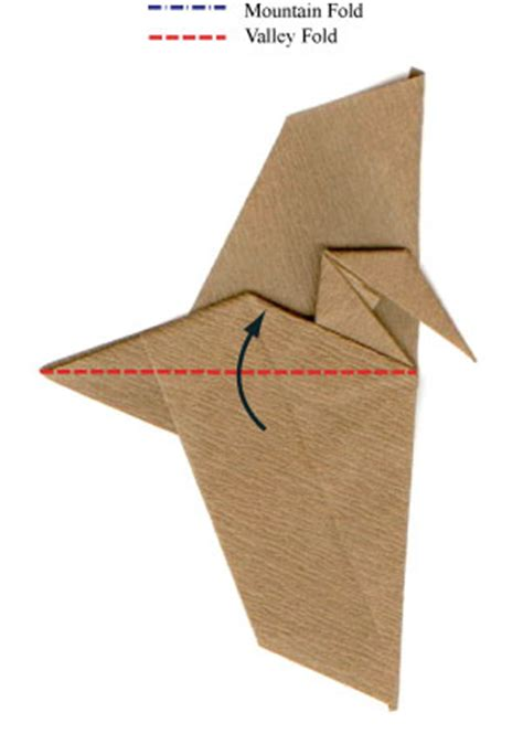 Pterodactyl Origami - how to make a simple origami pterosaur page 12