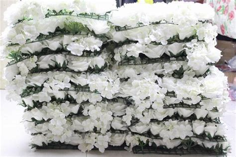 pcslot ivory artificial hydrangea rose flower wall