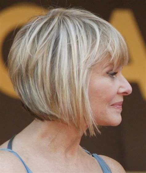 anngled bangs for bob stles fir mature women easy short hairstyles for women over 50 hairstyles 2017