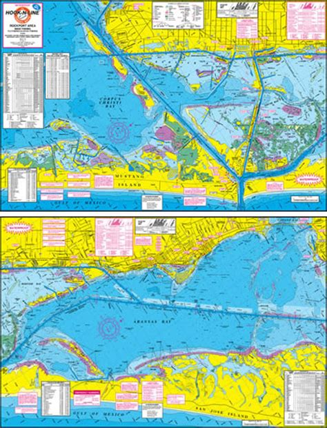 fishing maps texas rockport wade fly kayak fishing map