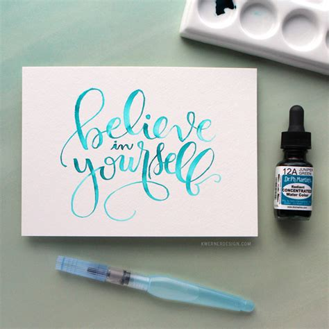brush lettering tutorial watercolor watercolor brush lettering using a light pad