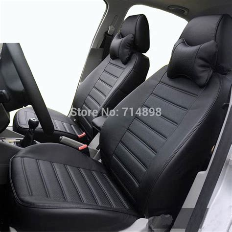 leather seat covers for cars aliexpress buy leather car seat cover black seat