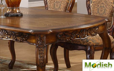 high quality antique wooden carved dining table 7 pc luxury solid wood carving dining table chair set