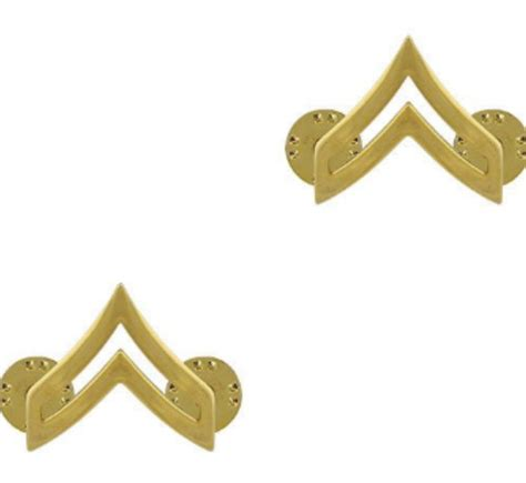 Us Rank Gold u s army corporal gold collar rank insignia