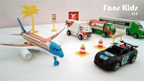 Mainan Mobil Pesawat Cars Planes vidio airport for toys plane cars for children mainan anak pesawat di bandara