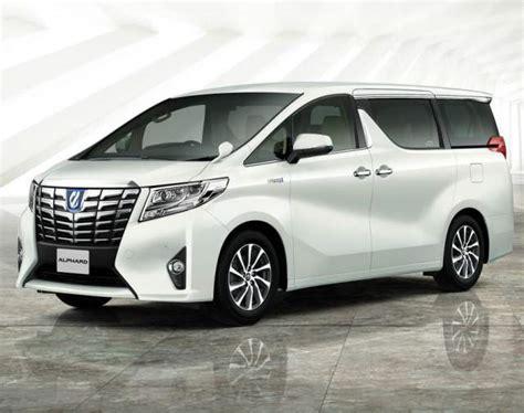 luxury minivan 2017 toyota alphard as luxury minivan
