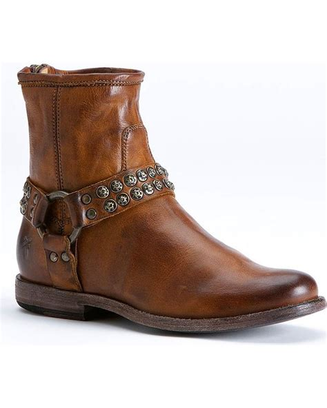 frye studded boots frye s phillip studded harness boot 76491 gry ebay
