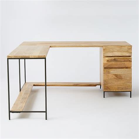 elm industrial desk industrial modular desk set elm